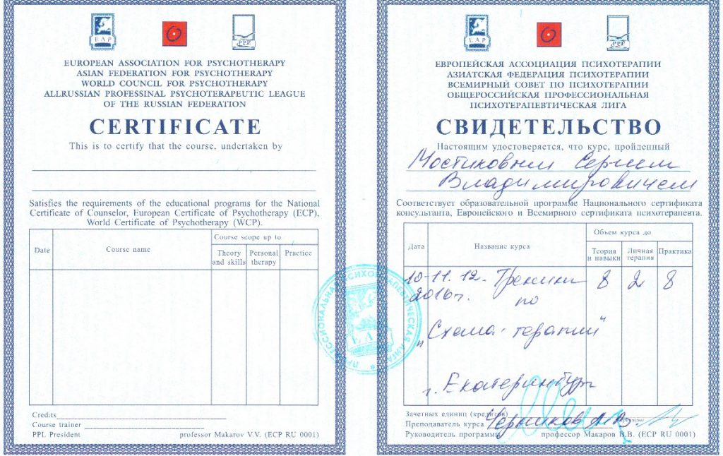 25. Схема-терапия. Общероссийская профессиональная психотерапевтическая лига.